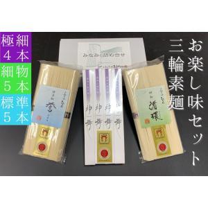 お楽し味セットA(人気そうめん3種詰め合わせ)(商品記号:TA-15)|miwaminami-store