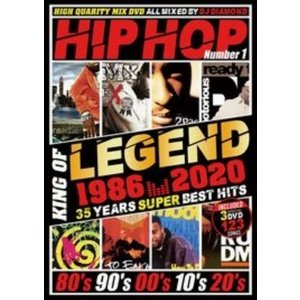 ヒップホップ MV集 永久保存版 35年間 ベスト 洋楽DVD MixDVD HIPHOP King Of Legend 1986-2020 / DJ Diamond[M便 6/12]|mixcd24