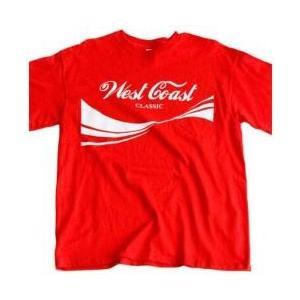 【Tシャツ】WEST COAST:Classic 赤(Red) / Men's T-Shirt[M便 5/12]|mixcd24