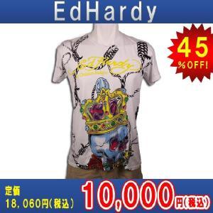【エントリーで10%付与 2/26 0:00〜2/28 23:59】 エドハーディー Ed Hardy T-SHIRT トップスTシャツWHITE・ホワイト あすつく|mixon
