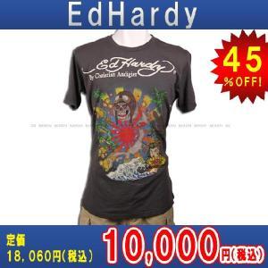 【エントリーで10%付与 2/26 0:00〜2/28 23:59】 エドハーディー Ed Hardy T-SHIRT トップスTシャツCHARCOAL GRAY・チャコールグレー あすつく|mixon