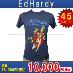 【エントリーで10%付与 2/26 0:00〜2/28 23:59】 エドハーディー Ed Hardy T-SHIRT トップスTシャツNAVY・ネイビー あすつく|mixon