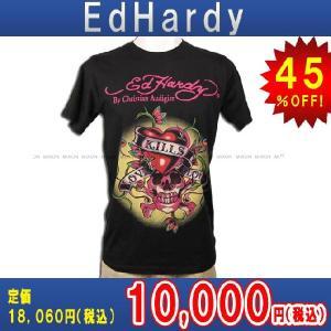 【エントリーで10%付与 2/26 0:00〜2/28 23:59】 エドハーディー Ed Hardy T-SHIRT トップスTシャツBLACK・ブラック あすつく|mixon