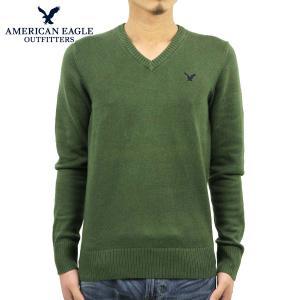 アメリカンイーグル セーター メンズ 正規品 AMERICAN EAGLE Vネックセーター  AE グリーン 1144-9384|mixon