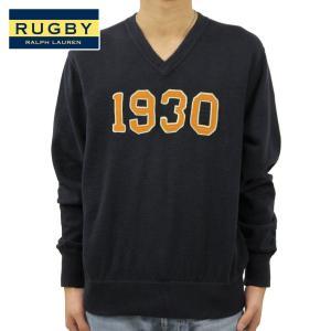 ラルフローレン ラグビー RUGBY RALPH LAUREN 正規品 メンズ ニット Vネックセーター 1930 ネイビ|mixon