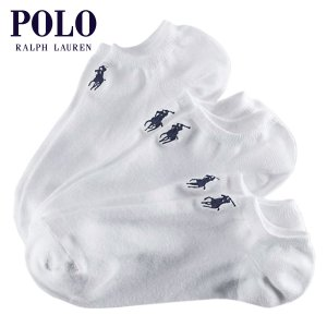 【エントリーで5%付与 4/6 0:00〜4/9 23:59】 ポロ ラルフローレン POLO RALPH LAUREN 正規品 靴下 ソックス Ghost Sock 3-Pack ホワ|mixon