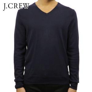 ジェイクルー セーター メンズ 正規品 J.CREW COTTON-CASHMERE V-NECK SWEATER ネイビ|mixon