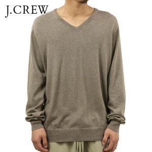 ジェイクルー セーター メンズ 正規品 J.CREW Vネックセーター ライトブラウン|mixon