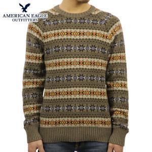 アメリカンイーグル セーター メンズ 正規品 AMERICAN EAGLE ニット 1145-9530 ブラウン|mixon
