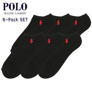 【エントリーで5%付与 4/6 0:00〜4/9 23:59】 ポロ ラルフローレン POLO RALPH LAUREN 正規品 ソックス Ghost Sock 6足セット ブラック|mixon