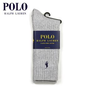 【エントリーで5%付与 4/6 0:00〜4/9 23:59】 ポロ ラルフローレン POLO RALPH LAUREN 正規品 ソックス Cotton Crew Single Sock グレー|mixon
