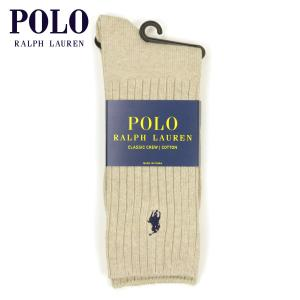 【エントリーで5%付与 4/6 0:00〜4/9 23:59】 ポロ ラルフローレン POLO RALPH LAUREN 正規品 ソックス Cotton Crew Single Sock カーキ|mixon