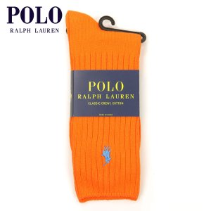 【エントリーで5%付与 4/6 0:00〜4/9 23:59】 ポロ ラルフローレン ソックス メンズ 正規品 POLO RALPH LAUREN 靴下  クルーソックス Cotton Crew Single|mixon