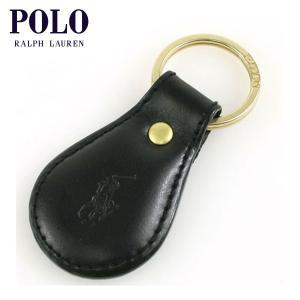 ポロ ラルフローレン POLO RALPH LAUREN 正規品 キーホルダー Leather Key Strap ブラッ|mixon