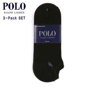 ポロ ラルフローレン POLO RALPH LAUREN 正規品 ソックス Ghost Socks 3-Pack BLAC|mixon