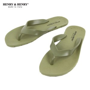 ヘンリーアンドヘンリー HENRY&HENRY 正規販売店 サンダル フリッパー FRIPPER SANDAL VERDE(KAHKI) 51|mixon