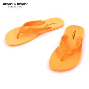 ヘンリーアンドヘンリー HENRY&HENRY 正規販売店 サンダル フリッパー FRIPPER SANDAL ARANCIO FLUO 37|mixon