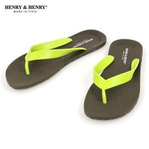 ヘンリーアンドヘンリー HENRY&HENRY 正規販売店 サンダル フリッパー FRIPPER SANDAL MARRON / LIME 29/7|mixon