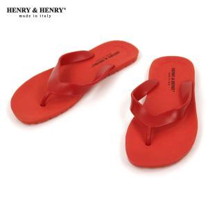 ヘンリーアンドヘンリー HENRY&HENRY 正規販売店 サンダル フリッパー FRIPPER SANDAL ROSSO 17|mixon