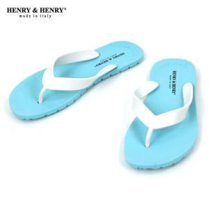 ヘンリーアンドヘンリー HENRY&HENRY 正規販売店 サンダル フリッパー FRIPPER SANDAL ACQUA / BIANCO 32/31|mixon