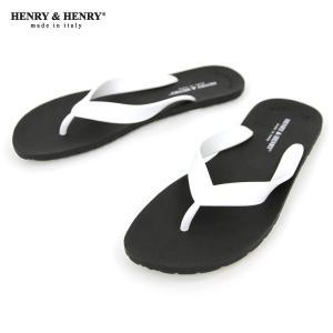 ヘンリーアンドヘンリー HENRY&HENRY 正規販売店 サンダル フリッパー FRIPPER SANDAL NERO/WHITE 31|mixon