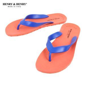 ヘンリーアンドヘンリー HENRY&HENRY 正規販売店 サンダル フリッパー FRIPPER SANDAL ORANGE/BLUE 1/50|mixon