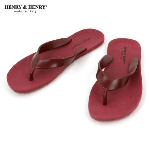 ヘンリーアンドヘンリー HENRY&HENRY 正規販売店 サンダル フリッパー FRIPPER SANDAL WINE 18|mixon