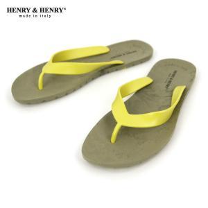 ヘンリーアンドヘンリー HENRY&HENRY 正規販売店 サンダル フリッパー FRIPPER SANDAL NICKEL/LIME 33/56|mixon
