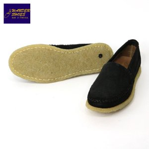 【20%OFFセール 更にエントリーで10%付与 2/26 0:00〜2/28 23:59】 ワンダーシューズ WANDER SHOES SLIP ON 4530 CREPE SUEDE BLACK mixon