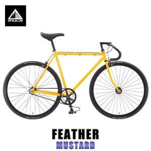 【20%OFFセール 更にエントリーで10%付与 2/26 0:00〜2/28 23:59】 フジ FUJI 2015 自転車 FEATHER (SINGLE SPEED) MUSTARD mixon
