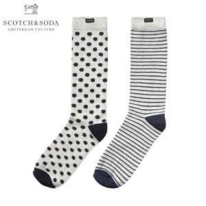スコッチアンドソーダ メンズ SCOTCH&SODA 靴下 ソックス Classic socks. Sold 2 in 1|mixon