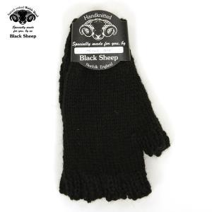 ブラックシープ BLACK SHEEP 正規販売店 メンズ 手袋 SB08 HANDMADE FINGERLESS KNIT GLOVE JET D00S15|mixon