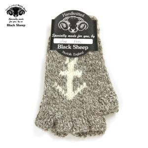 ブラックシープ BLACK SHEEP 正規販売店 メンズ 手袋 SM08 HANDMADE FINGERLESS KNIT ANCHOR GLOVE TWIST|mixon