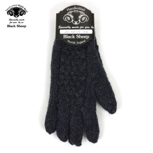 【ポイント10倍 2/23 0:00〜2/25 23:59まで】 ブラックシープ BLACK SHEEP メンズ 手袋 HAND MADE 5FINGER CABLE KNIT GLOVE GB07B DENIM MIX|mixon