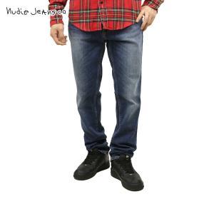 20%OFFセール 【販売期間 2/23 0:00〜2/25 23:59】 ヌーディージーンズ リーンディーン メンズ Nudie Jeans Lean Dean Bay Blue 471 1118|mixon