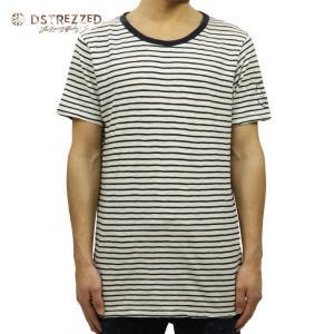 Dstrezzed T-shirt Painted Stripe Midnight Blue