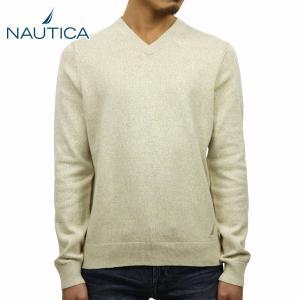 【20%OFFセール 更にエントリーで5%付与 4/6 0:00〜4/9 23:59】 ノーティカ NAUTICA 正規品 メンズ セーター V-NECK SWEATER|mixon