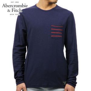 アバクロ ロンT メンズ 正規品 Abercrombie&Fitch 長袖Tシャツ LONG-SLEEVE STRIPED POCKET TEE 124-236-1692-200 D00S20|mixon