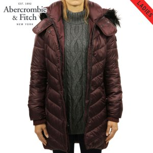 【20%OFFセール 更にエントリーで5%付与 2/16 0:00〜2/19 23:59】 アバクロ レディース Abercrombie&Fitch 正規品 アウター QUILTED NYLON PARKA 144|mixon