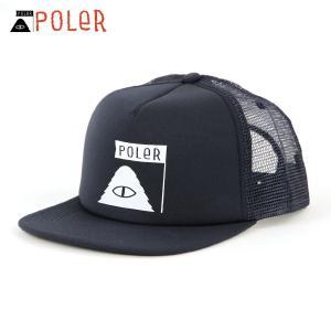 ポーラー キャップ メンズ レディース 正規販売店 POLER 帽子 SUMMIT MESH TRUCKER CAP 55300007-NVY NAVY mixon