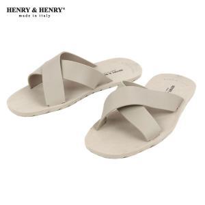 ヘンリーアンドヘンリー HENRY&HENRY 正規販売店 サンダル CROSS SANDAL BEIGE 45|mixon