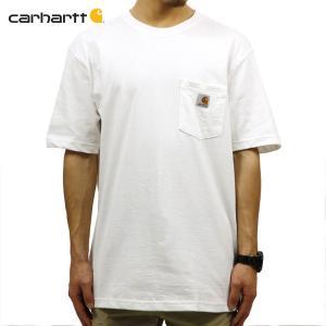 【エントリーで10%付与 2/26 0:00〜2/28 23:59】 カーハート Tシャツ メンズ CARHARTT 正規品 半袖 WORKWEAR POCKET SHORT-SLEEVE T-SHIRT K87 WHT|mixon