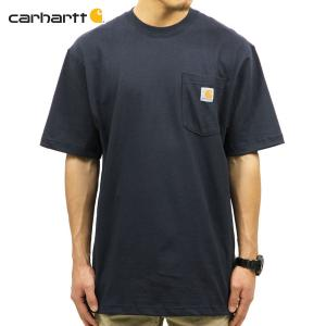 【エントリーで10%付与 2/26 0:00〜2/28 23:59】 カーハート Tシャツ メンズ CARHARTT 正規品 半袖 WORKWEAR POCKET SHORT-SLEEVE T-SHIRT K87 NVY|mixon