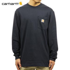【エントリーで10%付与 2/26 0:00〜2/28 23:59】 カーハート Tシャツ メンズ CARHARTT 正規品 長袖 WORKWEAR POCKET LONG-SLEEVE T-SHIRT K126 NVY|mixon