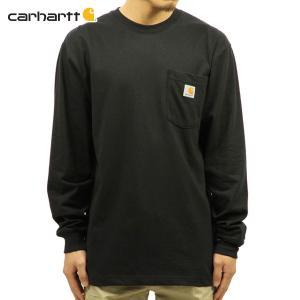 【エントリーで10%付与 2/26 0:00〜2/28 23:59】 カーハート Tシャツ メンズ CARHARTT 正規品 長袖 WORKWEAR POCKET LONG-SLEEVE T-SHIRT K126 BLK|mixon