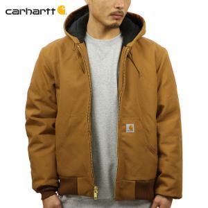 【エントリーで10%付与 2/26 0:00〜2/28 23:59】 カーハート アウター メンズ 正規品 CARHARTT ジャケット ジャケット QUILTED FLANNEL LINED DUCK ACT|mixon