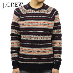 ジェイクルー セーター メンズ 正規品 J.CREW クルーネックセーター LAMBSWOOL FAIR ISLE SWEATER H1950|mixon