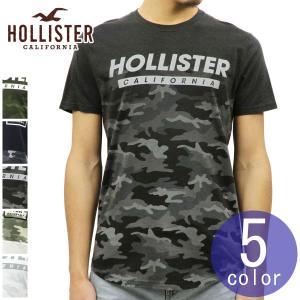 【エントリーで5%付与 2/16 0:00〜2/19 23:59】 ホリスター Tシャツ メンズ HOLLISTER 正規品 クルーネック カーブヘム カモフラージュ 迷彩柄 半袖 Camo|mixon