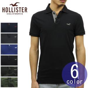 ホリスター ポロシャツ メンズ HOLLISTER 正規品 ストレッチ ピケ 半袖Stretch Pique Ombr? Polo Epic Flex