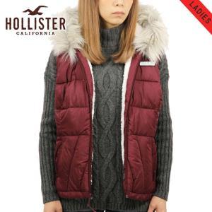 【エントリーで10%付与 3/30 0:00〜3/31 23:59】 ホリスター レディース HOLLISTER 正規品 アウター パファーベスト Sherpa-Lined Hooded Puffer Vest|mixon